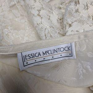 Jessica McClintock Tops - Jessica McClintock Lace Blouse